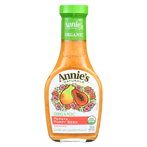Annie's Naturals Organic Dressing Papaya Poppy Seed - Case Of 6 - 8 Fl Oz.