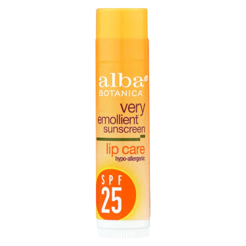 Alba Botanica - Very Emollient Sunblock Lipcare Spf 25 - 0.15 Oz - Case Of 24