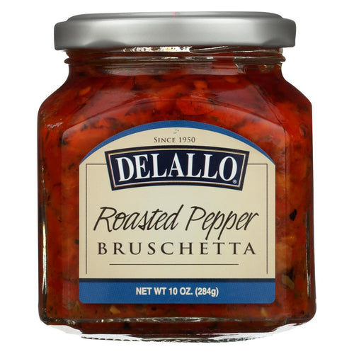 Delallo - Roasted Pepper Bruschetta - Case Of 6 - 10 Oz.