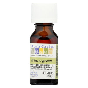 Aura Cacia Pure Essential Oil Wintergreen - 0.5 Fl Oz
