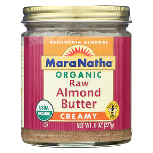 Maranatha Natural Foods Organic Almond Butter - Raw & Creamy & No Salt - Case Of 3 - 8 Oz