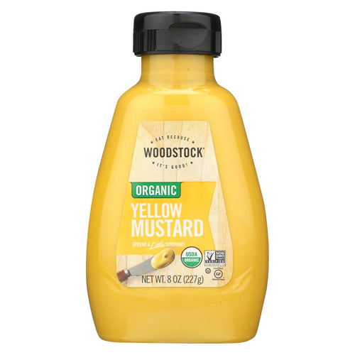 Woodstock Organic Mustard - Yellow - Case Of 12 - 8 Oz.
