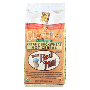 Bob's Red Mill - Organic Gluten Free Creamy Buckwheat Hot Cereal - 18 Oz - Case Of 4