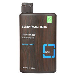 Every Man Jack Daily Shampoo - Scalp And Hair - All Hair Types - Signature Mint - 13.5 Oz