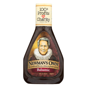 Newman's Own Balsamic Salad Dressing - Vinegar - Case Of 6 - 16 Fl Oz.
