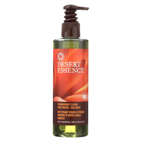 Desert Essence Thoroughly Clean Face Wash With Eco Harvest Tea Tree Oil And Sea Kelp - 8.5 Fl Oz