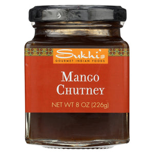Sukhi's Gourmet Indian Food Chutney - Mango - Case Of 6 - 8 Oz.