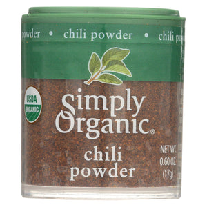 Simply Organic Chili Powder - Organic - .6 Oz - Case Of 6