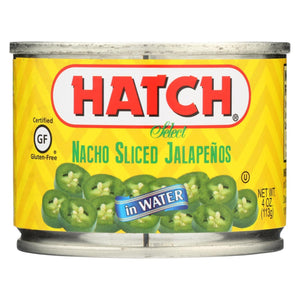 Hatch Chili Hatch Nacho Sliced - Jalapenos - Case Of 12 - 4 Oz.