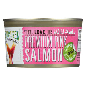 Natural Sea Wild Pink Salmon - Salted - Case Of 12 - - 7.5 Oz.