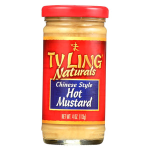 Ty Ling Mustard - Chinese - Hot - Case Of 12 - 4 Oz