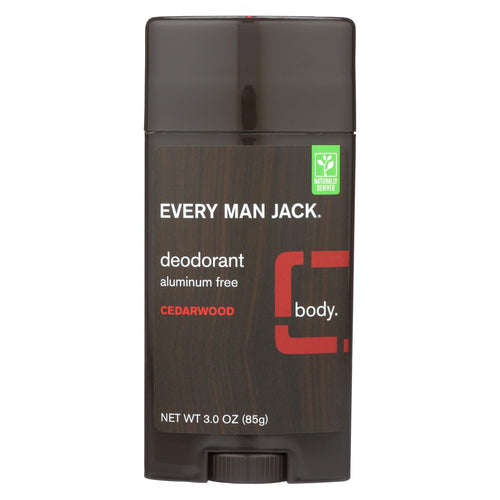 Every Man Jack Body Deodorant - Cedarwood - Aluminum Free - 3 Oz