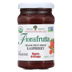 Fiordifrutta Organic Fruit Spread Raspberry - Fruit Spread Raspberry - Case Of 6 - 8.82 Oz.