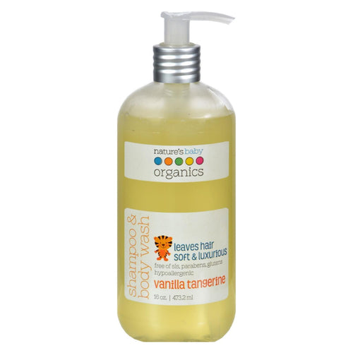 Nature's Baby Organics Shampoo And Body Wash Vanilla Tangerine - 16 Fl Oz