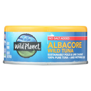 Wild Planet Wild Albacore Tuna - No Salt Added - Case Of 12 - 5 Oz.