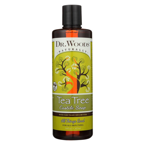 Dr. Woods Shea Vision Pure Castile Soap Tea Tree - 16 Fl Oz