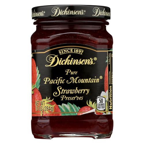 Dickinson Pure Pacific Mountain Strawberry Preserves - Case Of 6 - 10 Oz.