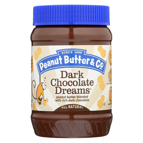Peanut Butter And Co Peanut Butter - Dark Chocolate Dreams - Case Of 6 - 16 Oz.