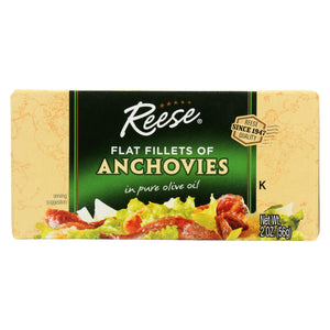 Reese Anchovies - Flat Fillets - In Pure Olive Oil - 2 Oz - Case Of 10