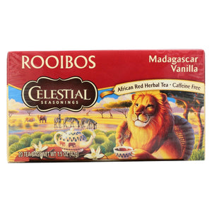 Celestial Seasonings Red Tea Caffeine Free Madagascar Vanilla - 20 Tea Bags - Case Of 6