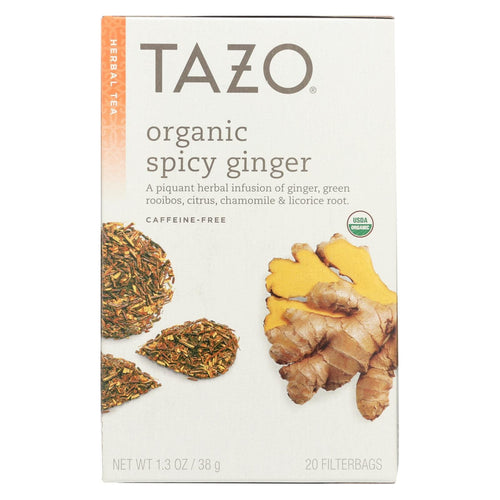 Tazo Tea Organic Tea - Hot & Spicy Ginger - Case Of 6 - 20 Bag
