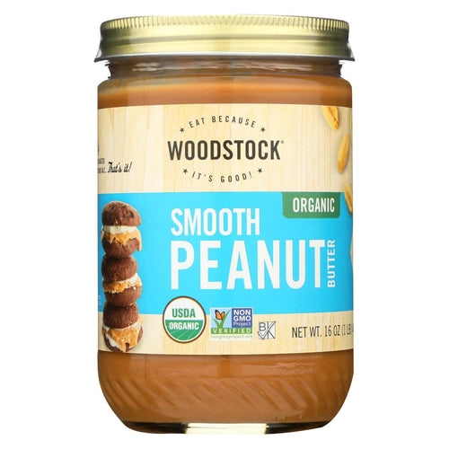 Woodstock Organic Peanut Butter - Smooth - 16 Oz.