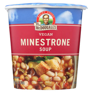 Dr. Mcdougall's Vegan Minestrone Soup Big Cup - Case Of 6 - 2.3 Oz.