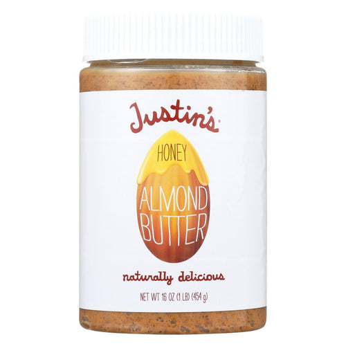 Justin's Nut Butter Almond Butter - Honey - Case Of 6 - 16 Oz.
