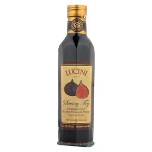 Lucini Italia Savory Fig Balsamic Artisan Vinegar - Case Of 6 - 8.5 Fl Oz.