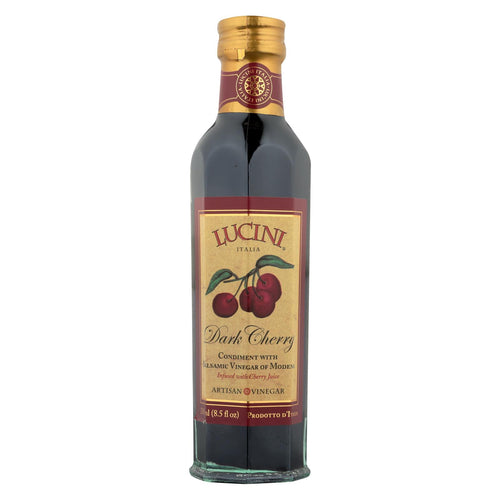 Lucini Italia Dark Cherry Balsamic Artisan Vinegar - Case Of 6 - 8.5 Fl Oz.