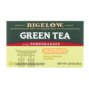 Bigelow Tea Decaf Green Tea With Pomegranate - Case Of 6 - 20 Bag