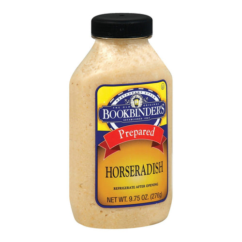 Bookbinder's Horseradish - Prepared - Case Of 9 - 9.75 Oz.