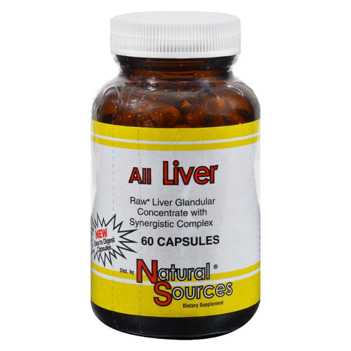 Natural Sources All Liver - 60 Capsules