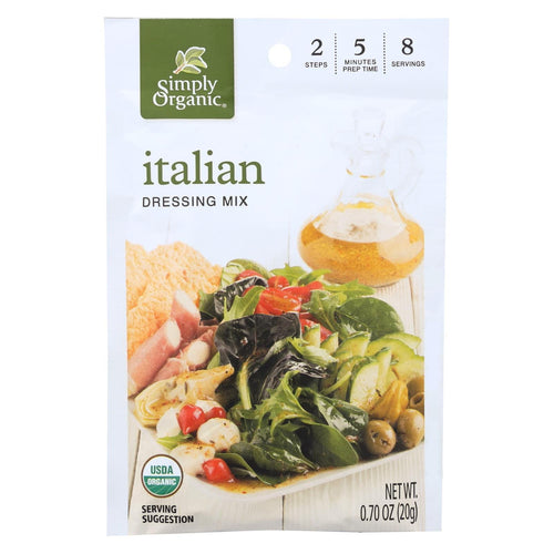 Simply Organic Italian Salad Dressing Mix - Case Of 12 - 0.7 Oz.