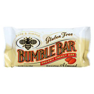 Bumble Bar - Organic Sesame Bar - Amazing Almond - Case Of 12 - 1.4 Oz.