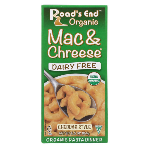 Road's End Organics Mac And Cheese Pasta - Cheddar Style - Case Of 12 - 6.5 Oz.