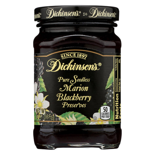 Dickinson Pure Marion Blackberry Preserves - Case Of 6 - 10 Oz.