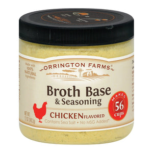 Orrington Farms Broth Base And Seasoning - Chicken - Case Of 6 - 12 Oz.