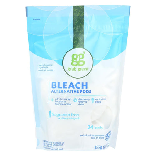 Grab Green Bleach Alternative - Fragrance Free - Case Of 6 - 24 Count