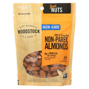 Woodstock Almonds - Raw - Case Of 8 - 7.5 Oz.