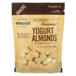 Woodstock Snacks - All Natural - Almonds - Yogurt - Sweet And Crunchy - 8.5 Oz - Case Of 8