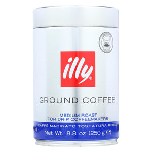 Illy Caffe Coffee Coffee - Drip - Ground - Medium Roast - 8.8 Oz - Case Of 6