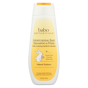 Babo Botanicals - Moisturizing Baby Shampoo And Wash - Oatmilk Calendula - 8 Fl Oz