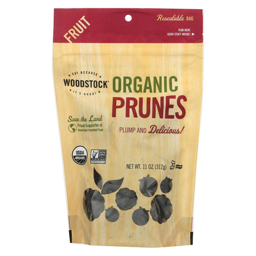 Woodstock Organic California Prunes - Pitted - Case Of 8 - 11 Oz.