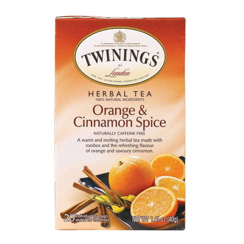 Twining's Tea Herbal Tea - Orange And Cinnamon Spice - Case Of 6 - 20 Bags