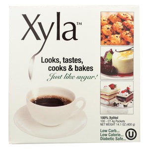 Xyla All Natural Sugar Free - Sweetener - Case Of 6 - 100 Count