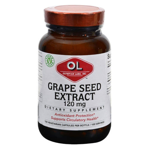 Olympian Labs Grape Seed Extract - 120 Mg - 100 Capsules