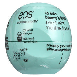 Eos Products - Lip Balm - Organic - Smooth Sphere - Sweet Mint - .25 Oz - Case Of 8