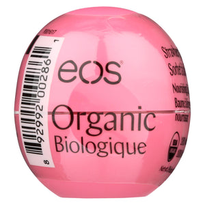 Eos Products - Lip Balm - Organic - Smooth Sphere - Strawberry Sorbet - .25 Oz - Case Of 8