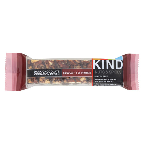 Kind Bar - Dark Chocolate Cinnamon Pecan - 1.4 Oz Bars - Case Of 12